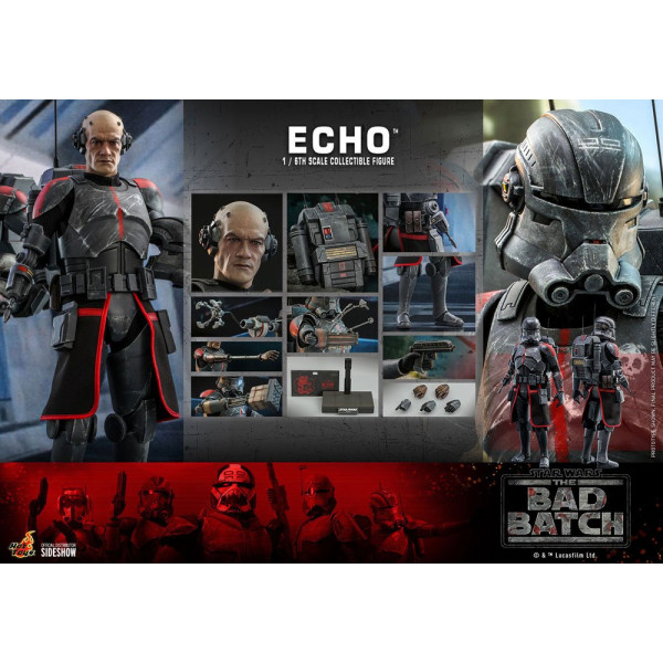 PREORDINE HOT TOYS Star Wars The Bad Batch Action Figure 1/6 Echo 29 cm