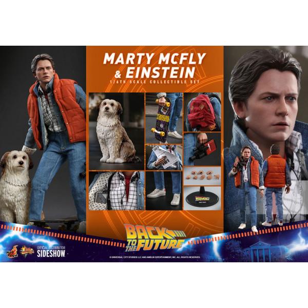 DISPONIBILE !!! Hot Toys MMS 573 Back To The Future – Marty Mcfly & Einstein PEZZI LIMITATI