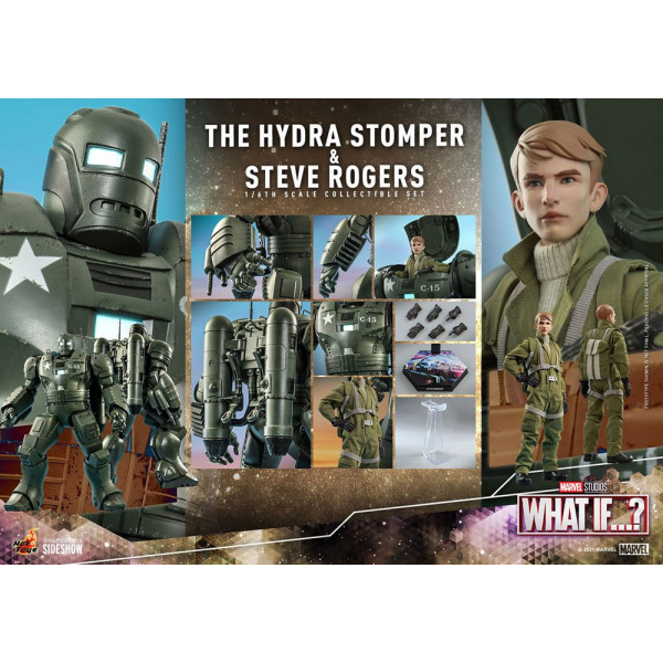 PREORDINE HOT TOYS What If...? Action Figures 1/6 Steve Rogers & The Hydra Stomper 28 - 56 cm