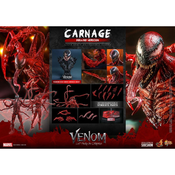 PREORDINE HOT TOYS Venom: Let There Be Carnage Movie Masterpiece Series PVC Action Figure 1/6 Carnage Deluxe Ver. 43 cm