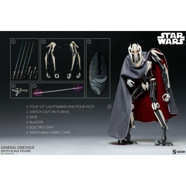 PREORDINE Sideshow Star Wars Action Figure 1/6 General Grievous 41 cm