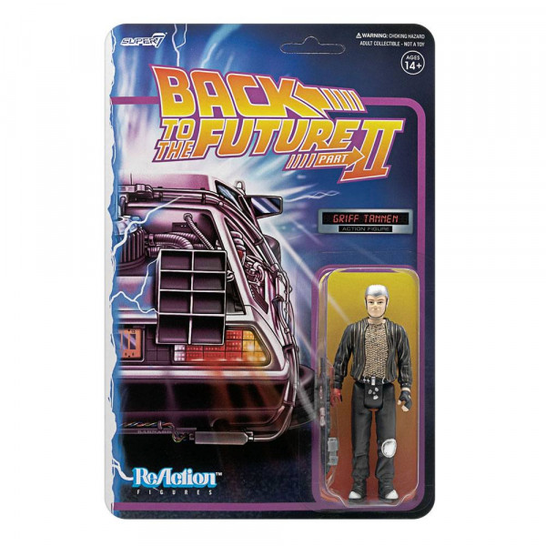 PREORDINE Back To The Future ReAction Action Figure Griff Tannen 10 cm