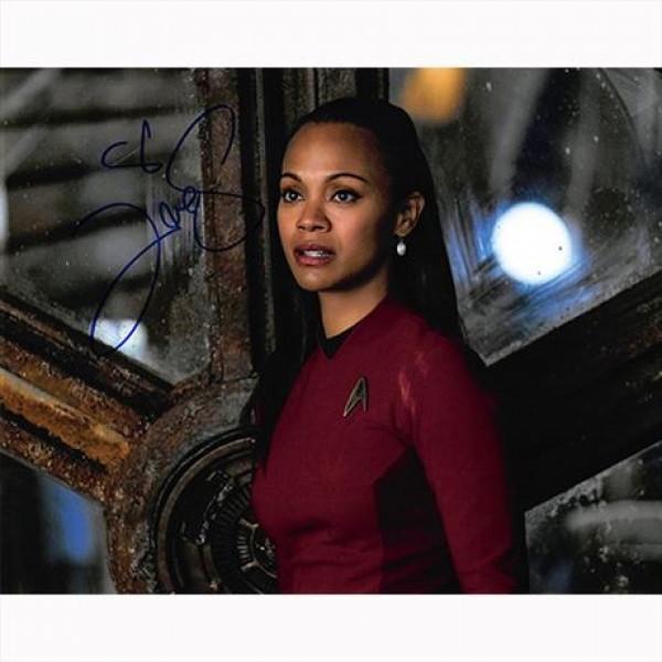 Autografo Zoe Saldana - Star Trek -Foto 20x25