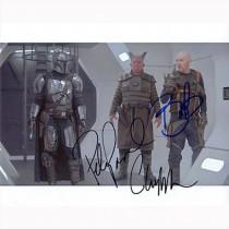 Autografo The Mandalorian Cast di 3 Foto 20x25