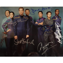 Autografo Cast Completo  Star Trek Enterprise 4 Foto 20x25
