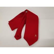 Star Trek cravatta Ingegneria rossa con logo ricamato
