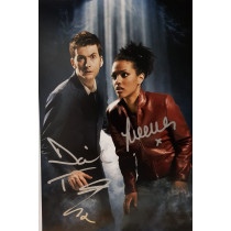 Autografo David Tennant & Freema Agyeman - Doctor Who  Foto 20x25