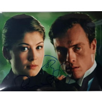 Autografo Toby Stephens Rosamund Mary Pike JAMES BOND DIE ANOTHER DAY Foto 20x25