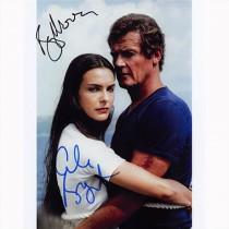 Autografo Roger Moore & Carole Bouquet - 007 James Bond Foto 20x25