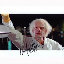 Autografo Christopher LLoyd Ritorno al Futuro 3 Foto 20x25