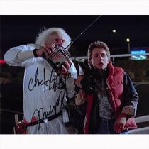 Autografo Michael J. Fox e Christopher Lloyd -2 Ritorno al futuro Foto 20x25