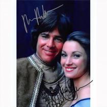 Autografo Richard Hatch & Jane Seymour - Battlestar Galactica Foto 20x25