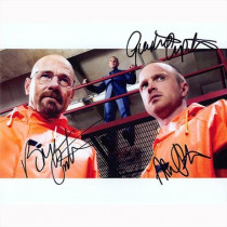 Autografo Breaking Bad Cast  3 Actors Foto 20x25