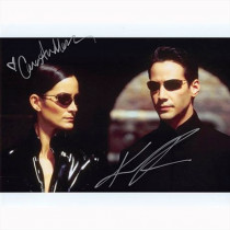 Autografo Keanu Reeves & Carrie-Anne Moss - The Matrix Foto 20x25
