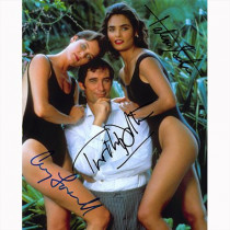 Autografo Cast 3 Actors 007 James Bond Foto 20x25