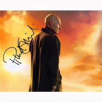 Autografo Patrick Stewart - Star Trek Picard Foto 20X25