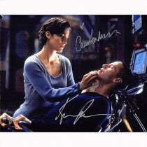 Autografo Keanu Reeves & Carrie-Anne Moss - The Matrix -2 Foto 20x25