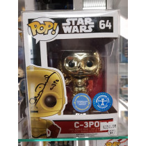 Autografo Anthony Daniels Funko Pop! Star Wars C-3PO #64