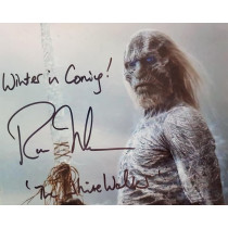Autografo Ross Mullan Game of Thrones White Walker Foto 20X25