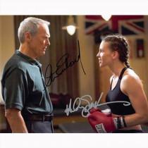 Autografo Clint Eastwood & Hilary Swank - Million Dollar Baby Foto 20x25