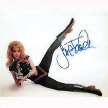 Autografo Jane Fonda - Barbarella Foto 20x25