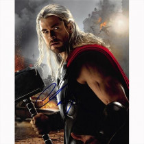 Autografo Chris Hemsworth - Avengers Age of Ultron Foto 20x25