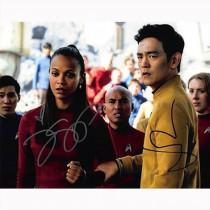 Autografo John Cho & Zoe Saldana - Star Trek Foto 20x25