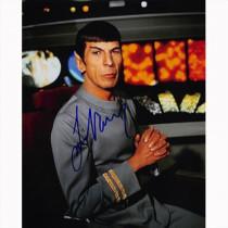 Autografo - Leonard Nimoy - Star Trek Foto 20x25
