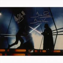 Autografo Star Wars Mark Hamill - David Prowse - Foto 28x35