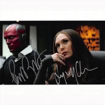 Autografo Paul Bettany & Elizabeth Olsen - WandaVision Marvel Foto 20x25