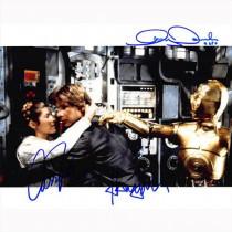 Autografo Star Wars Cast 3 Attori Foto 20x25
