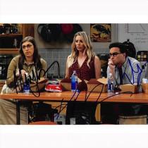Autografo The Big Bang Theory Cast  3 Attori Foto 20x25