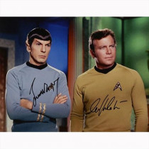 Autografo William Shatner - Leonard Nimoy - Star Trek Foto 28x35