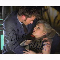 Autografo David Tennant & Billie Piper - Doctor Who Foto 20x25
