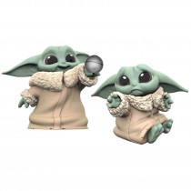 "Hasbro Star Wars: The Mandalorian Baby Bounties ""Hold Me and Ball"" Mini Figures Set 2 pezzi"