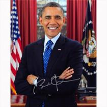 Autografo Il presidente degli Stati Uniti Barack Obama Foto 20x25