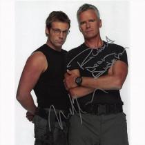 Autografo Richard Dean Anderson e Michael Shanks - Stargate SG-1 Foto 20x25