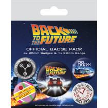 Portachiavi Ritorno al futuro (Delorean)  Pacchetto badge