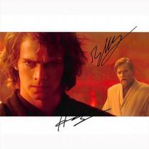 Autografo Ewan McGregor e Hayden Christensen - Star Wars Foto 20x25