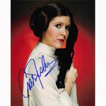 Autografo Star Wars Carrie Fisher 2 Foto 20x25