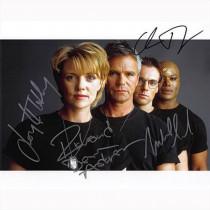 Autografo Stargate SG-1 Cast di 4  Foto 20x25