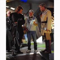 Autografo Star Wars Revenge of The Sith Cast + director di 3 Foto 20x25