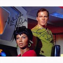 Autografo William Shatner & Nichelle Nichols -2  Star Trek Foto 20x25.