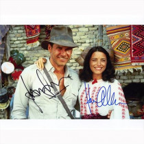 Autografo Harrison Ford & Karen Allen Indiana Jones 2 Foto 20x25: