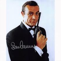 Autografo Sean Connery -3- 007 James Bond 20x25