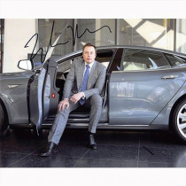 Autografo Elon Musk - Tesla Foto 20x25