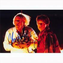 Autografo Michael J. Fox e Christopher Lloyd - Ritorno al futuro Foto 20x25