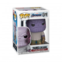 Funko- Pop Marvel: Endgame-Casual Thanos w/Gauntlet Collectible Toy, Multicolore, 45141