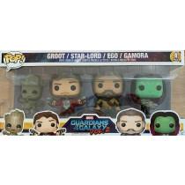 Funko Pop! Pack 4 Groot Star Lord Ego Gamora Guardiani della Galassia 2