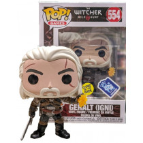 FUNKO POP! THE WITCHER GERALT (IGNI) #554 Gitd FUNKO Club Exclusive